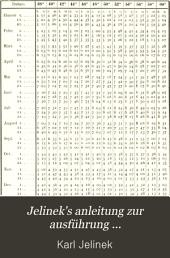 Jelinek's Anleitung zur Ausführung meteorologischer Beobachtungen: nebst einer Sammlung von Hilfstafeln