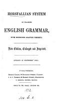 Horsfallian system of teaching English grammar PDF