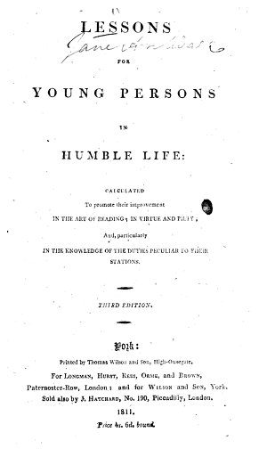 Lessons for Young Persons in humble life     Third edition