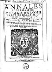 Epitome annalium ecclesiasticorum Caesaris Baronii ...