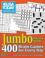 USA TODAY Jumbo Puzzle Book PDF