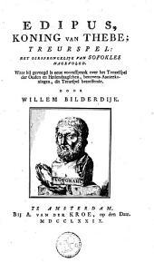 Edipus, koning van Thebe: treurspel