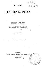 Dialoghi di scienza prima