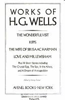 Works of H G  Wells PDF