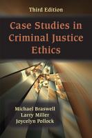 Case Studies in Criminal Justice Ethics PDF