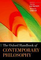 The Oxford Handbook of Contemporary Philosophy PDF