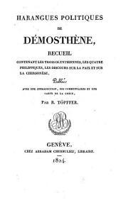 Harangues politiques ¬de ¬Démosthène: recueil contenant les trois Olynthiennes, les quatre Phlippiques, les discours sur la paix et sur le Chersonèse
