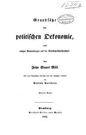 Grundsätze der politischen oekonomie nebst einigen anwendungen derselben auf die gesellschaftswissenschaft: Band 2