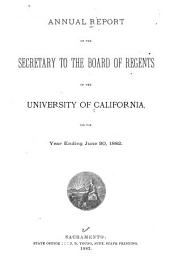 Report of the Secretary of the Board of Regents