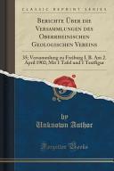 Berichte   ber die Versammlungen des Oberrheinischen Geologischen Vereins PDF