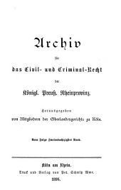 Archiv für das civil- und criminal recht der königl[ichen] preuss[ischen] rhein-provinzen: Band 89