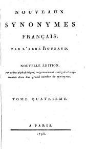 Nouveaux synonymes français