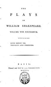 The Plays of William Shakspeare: Volume 16