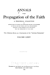 Annals of the Propagation of the Faith: Volumes 74-75
