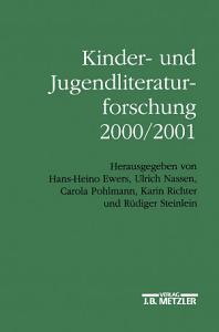 Kinder  und Jugendliteraturforschung 2000 2001 PDF