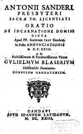 Oratio incarnatione Domini ...