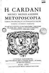 Metoposcopia, libri XIII... complexa...