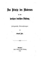 Prinzip des modernen in der heutigen deutschen dichtung