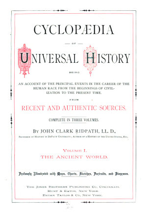 Cyclop  dia of Universal History  The ancient world PDF