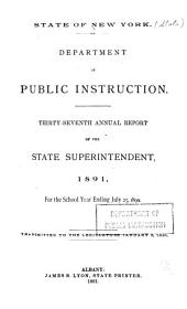 Report of the State Superintendent: Volume 37