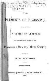 The Elements of Plainsong Book