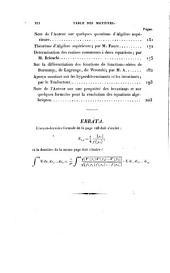 Théorie des déterminants et leurs principales applications