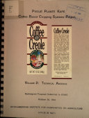 Coffee based cropping systems Project: coffee ceole. Volumen 2: Technical annexes