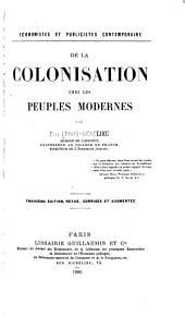 De la colonisation chez les peuples modernes