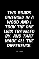 Two Roads Diverged in a Wood and I Took the One Less Traveled By  and that Made All the Difference  PDF