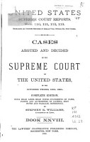 Cases Argued and Decided in the Supreme Court of the United States     PDF