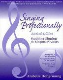 Singing Professionally