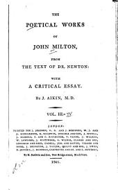 The Poetical Works of John Milton: From the Text of Dr. Newton, Volumes 3-4