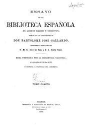 Ensayo de una biblioteca española de libros raros y curiosos: Volumen 4