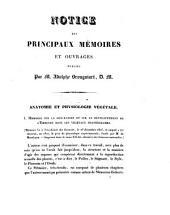 Notice des principaux mémoires et ouvrages publiés par M. Adolphe Brongniart