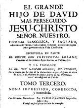 El Grande hijo de David mas perseguido Jesu-Christo señor nuestro: historia evangelica y sagrada adornada y vestida de varias y memorables historias, dulces y sazonados exemplos para divertir el gusto y corregir la vida