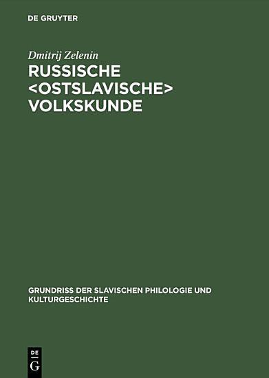 Russische ostslavische Volkskunde PDF