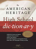 The American Heritage High School Dictionary PDF