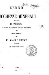 Cenno sulle ricchezze minerali dell'isola di Sardegna ad intelligenza della collezione dei minerali utili che si rinvengono nei suoi terreni