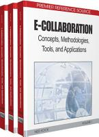 E Collaboration  Concepts  Methodologies  Tools  and Applications PDF