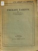 Freight Tariffs PDF