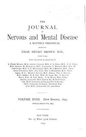 Journal of Nervous and Mental Disease: Volume 20