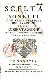 Scelta di sonetti con varie critiche ...