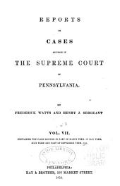 Reports of cases adjudged in the Supreme court of Pennsylvania: Volume 43