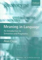 Meaning in Language PDF