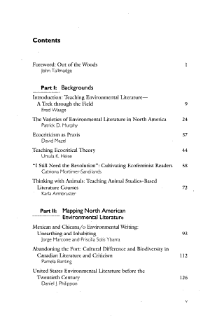 Teaching North American Environmental Literature PDF