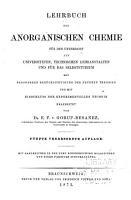 Lehrbuch der chemie  Anorganische chemie 5  mitbesonderer berucksichtigung der neuren theorien bearbeitete  verbeserte auflage PDF