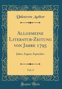 Allgemeine Literatur Zeitung von Jahre 1795  Vol  3 PDF