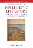 A Companion to Hellenistic Literature PDF