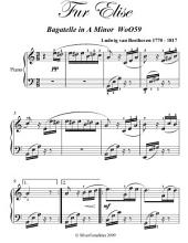 Fur Elise Intermediate Piano Sheet Music