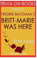 Trivia On Books Britt Marie Was Here by Fredrik Backman Book